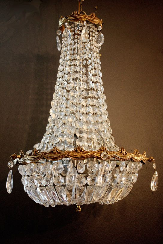 $1750.00 1920s Xrlg French Empire Crystal Chandelier Stunning-Antique  Chandelier, Chandelier, Antique, - 22 Best Antique European Chandeliers Images On Pinterest Crystal
