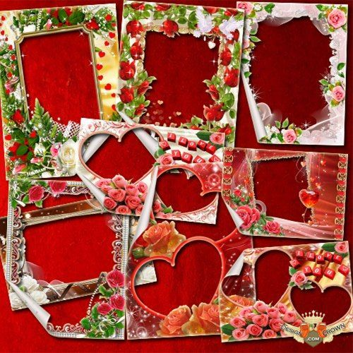 Love photos frame png - for couples in love, marriage pictures montage