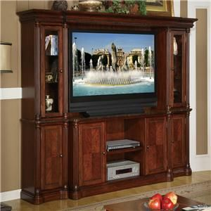 Monte Cristo Wall Unit With TV Cart U0026 Curio Pier Cabinets By Legends  Furniture   Fiore Furniture   Wall Unit