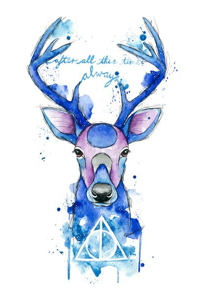 Always. Harry Potter patronus. Art Print