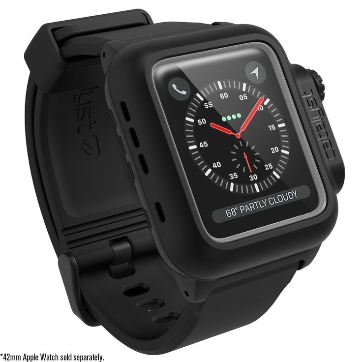 Catalyst case for 42mm Apple Watch Series 3 & Series 2 - Waterproof Shock Resistant (Stealth Black). The Catalyst case for 42mm Apple Watch Series 3 is FULLY COMPATIBLE with the 42mm Apple Watch Series 2. The Catalyst case for the 42mm Apple Watch Series 3 has a waterproof score of IP68. Dive as deep as 330 feet (100 meters). Catalyst cases exceed MIL-STD 810G military standard for shocks and drops up to 6.6ft (2 meters). Made of impact resistant scratch proof rugged polycarbonate with…