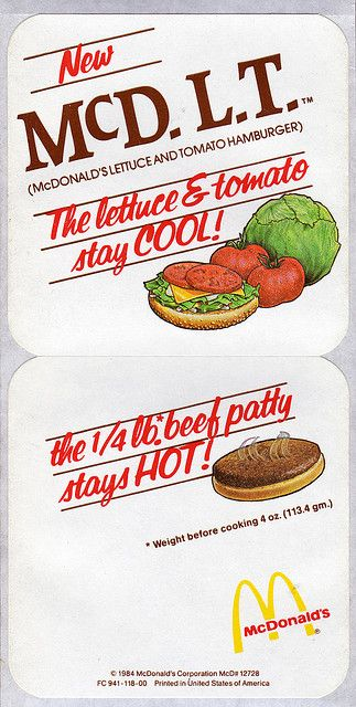 Mmmm McDLT. The hot stayed hot and the cool stayed cool!