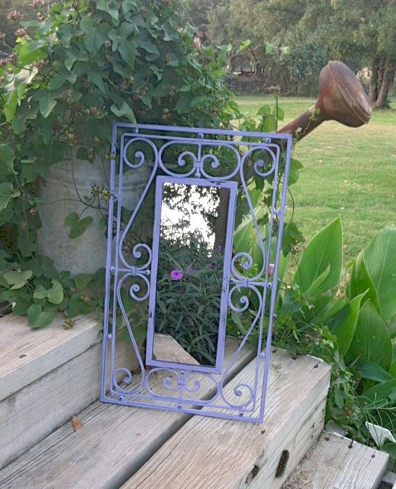 Lilac French Country Wall Mirror / by RepurposedTreasure4U on Etsy, $24.00