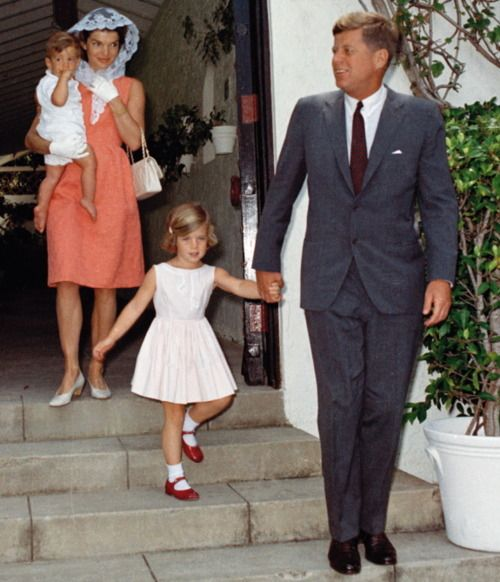 During the Easter season, the first family leave their Palm Beach home for Mass on Good Friday ~ 23 April 1962