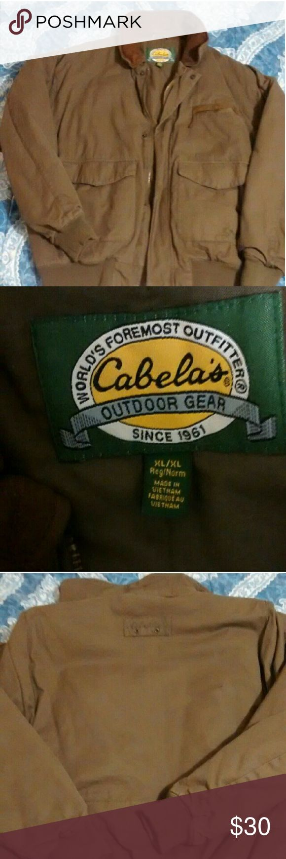Cabela's  mens working/hunting coat XL It's in excellent condition.. only worn a couple of times Cabela's Jackets & Coats Bomber & Varsity