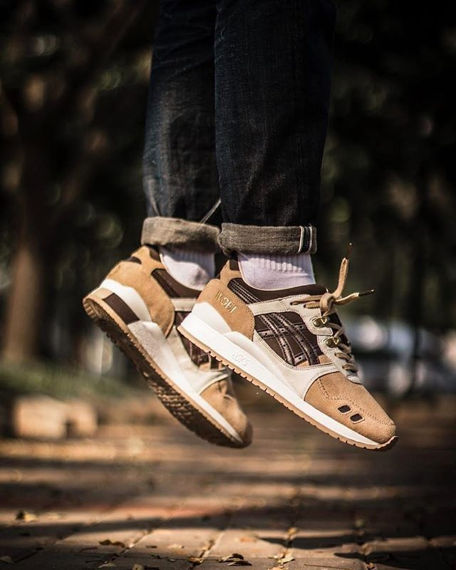 outlet store ec087 d9a4b Asics Gel Lyte III x Woei Cervidae CW and materials on point ...
