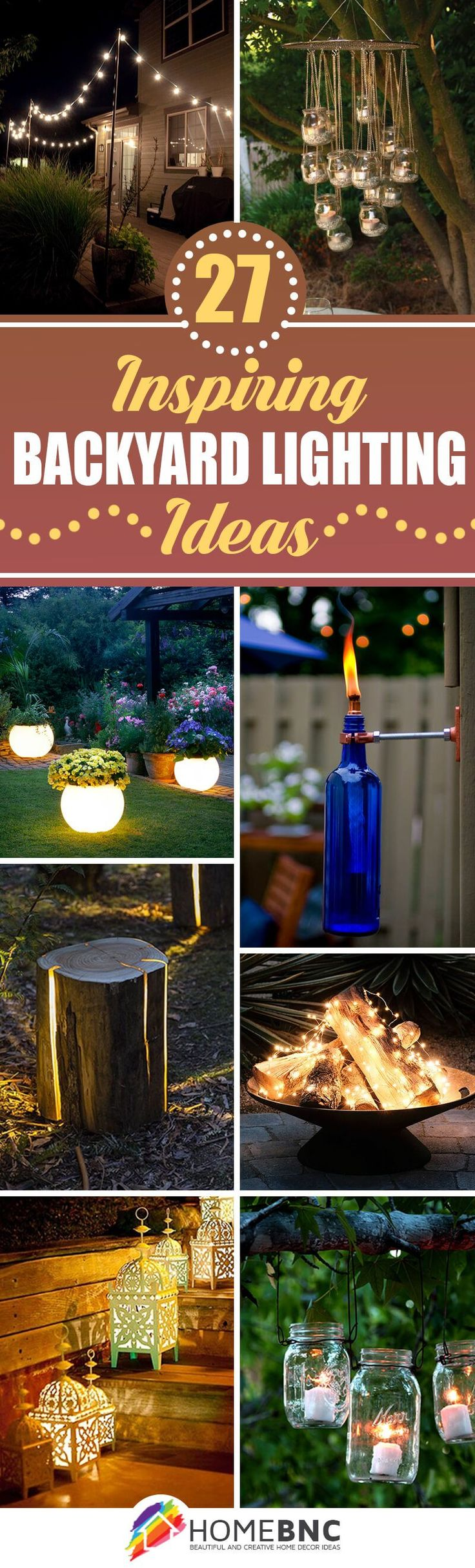 Backyard Lighting Ideas japanese garden lighting for the walkway along the side of the house 27 Pretty Backyard Lighting Ideas For Your Home
