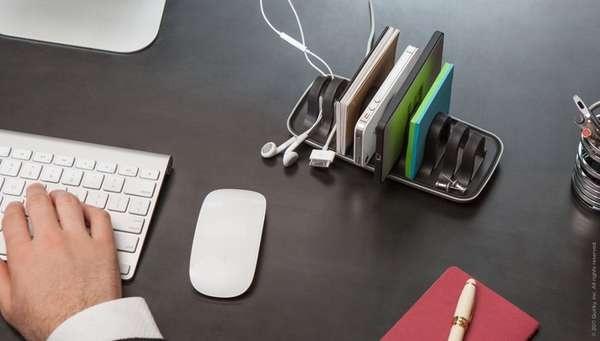 Desktop Gadget Organizers  #Cordies #Design #Organization http://www.trendhunter.com