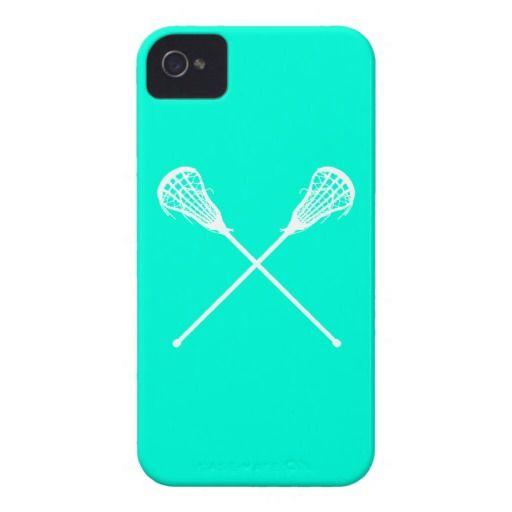 iPhone 4 Lacrosse Sticks Turquoise Case-Mate iPhone 4 Cases