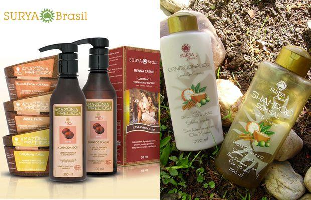 Cosméticos naturais, vegan, orgânicos - Surya Brasil;