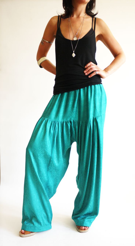 Vintage 1970s harem pants