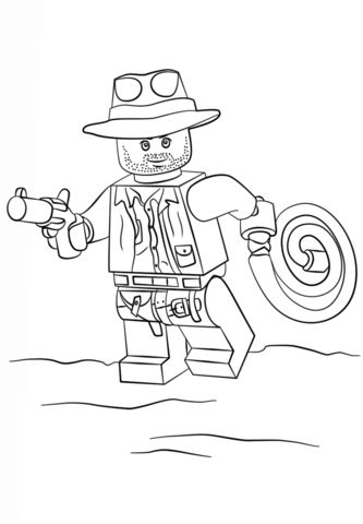 Lego Indiana Jones coloring page from Misc. Lego Minifigures category. Select from 20946 printable crafts of cartoons, nature, animals, Bible and many more.