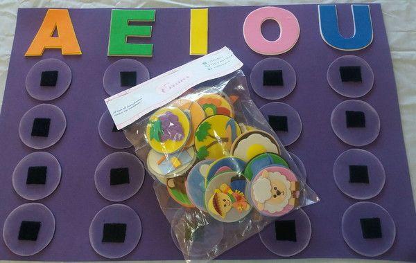 Jogo Das Vogais No Elo7 Criativa Eva C0427b Jogos Educacao Infantil Jogos Educativos Para Criancas Brincadeiras Educacao Infantil