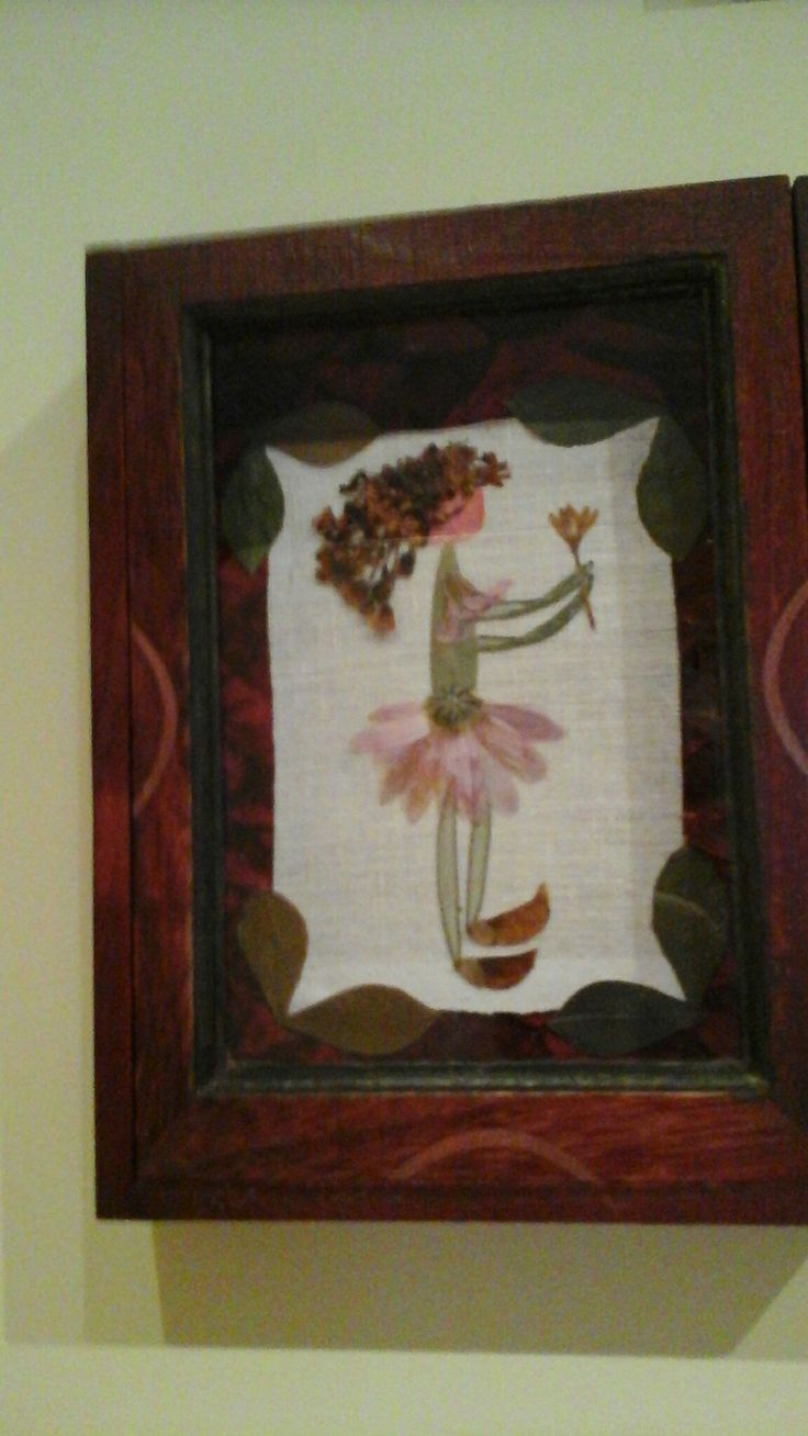 Pressed flower picture