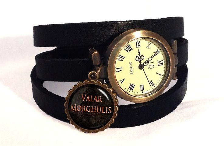 Leather watch bracelet Valar Morghulis, 0728WB from EgginEgg by DaWanda.com