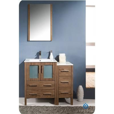 Torino vanity with side drawers