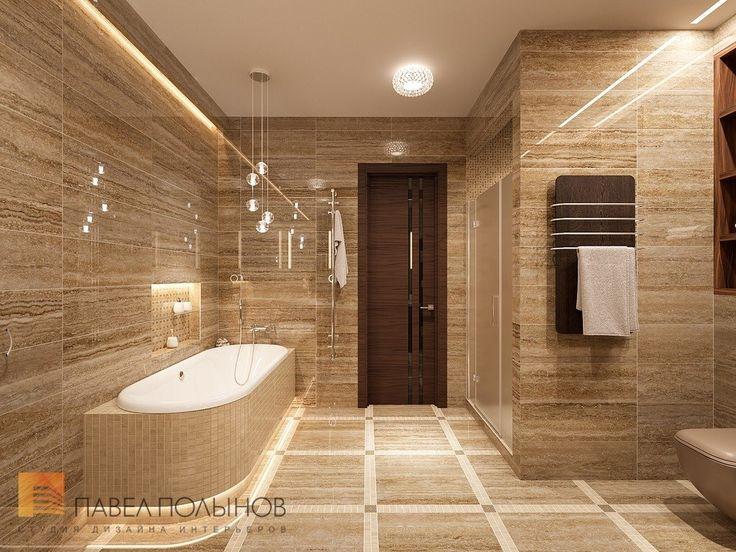 Фото дизайн интерьера ванной комнаты из проекта «Дизайн интерьера трехкомнатной квартиры 127 кв.м., ЖК «Парадный квартал», современный стиль»