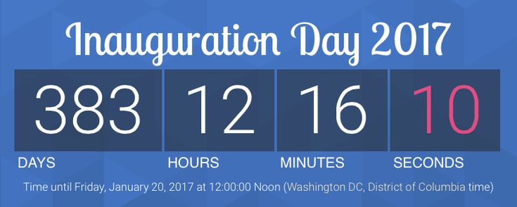 Susan Swift Arnall made an Inauguration Day countdown clock to Obama Eviction Day