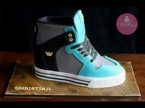 This video shows you how I carved, and decorated my Supra sneaker cake. I predominately used modeling chocolate for this project. If you havent tried modeling chocolate yet, you are MISSING OUT! lol...seriously, you need to try it!