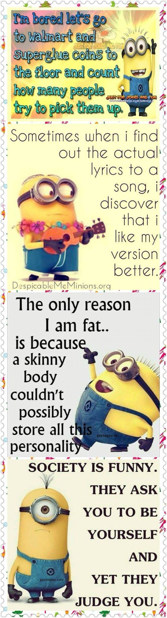 Top 4 Funny Quotes By The #Minions