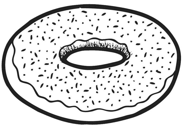 Donut drawing. | Pink Frosting Donut | Pinterest | Donuts ...