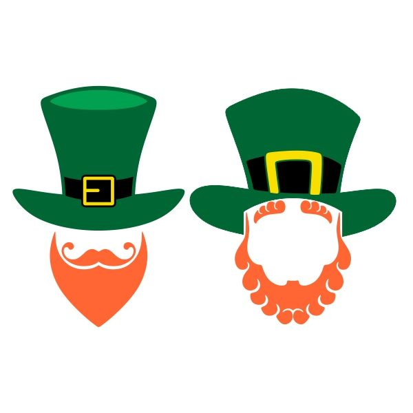 Leprechaun Beard Cuttable Design Cut File. Vector, Clipart, Digital Scrapbooking Download, Available in JPEG, PDF, EPS, DXF and SVG. Works with Cricut, Design Space, Cuts A Lot, Make the Cut!, Inkscape, CorelDraw, Adobe Illustrator, Silhouette Cameo, Brother ScanNCut and other software.
