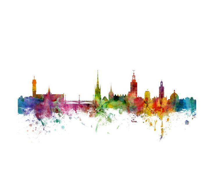 Stockholm Sweden Skyline Photographic Print by Michael Tompsett at Art.com