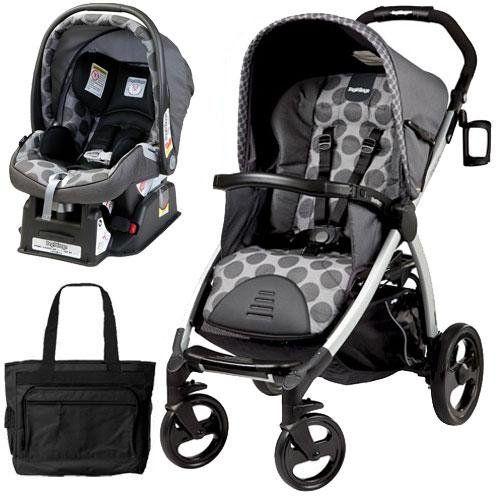 Peg Perego Book Stroller Travel System With A Diaper Bag