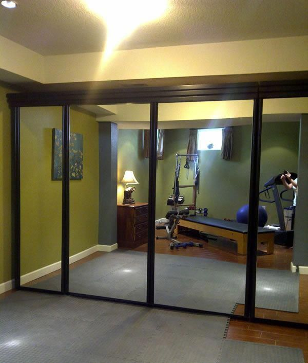 Wichita Mirrored King Murphy Bed, Bed Up The outside panels of