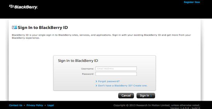 Blackberry Logout
