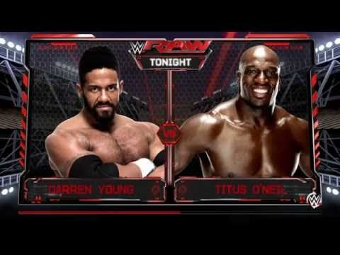 WWE 2K16: Darren Young vs. Titus O' Neil (Raw August 1, 2016)
