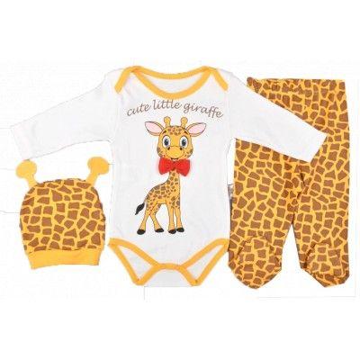 Σέτ βρεφικό για κορίτσια 'little giraffe' | Παιδικά ρούχα, Ρούχα μπεμπέ, Παιδική μόδα, Εφηβική μόδα