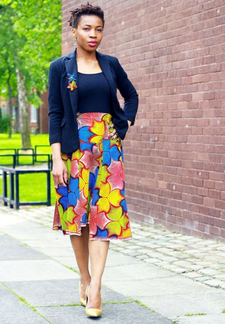 Top 10 Lovely Ankara Midi Skirt Style You Love To Add Your Wardrobe  Dabonke