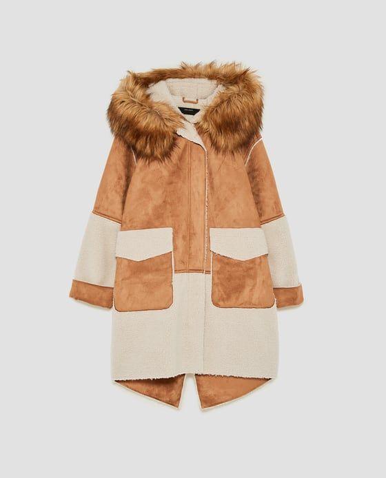Abrigo de ante con capucha