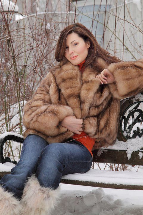 sable fur jacket & fur boots