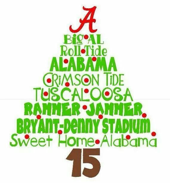 Now that's a Christmas tree. ROLL TIDE!