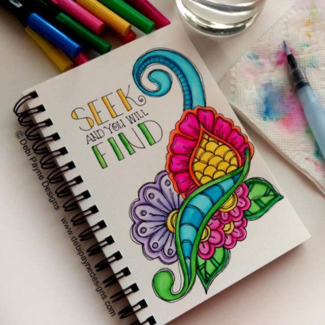 Whatever you are looking for... Seek and you will Find!  #doodleart #watercolor…