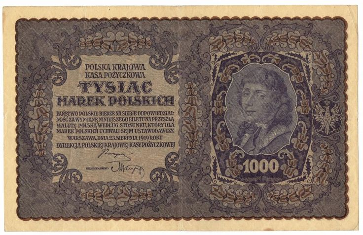 Poland, 1000 Marek, 1919