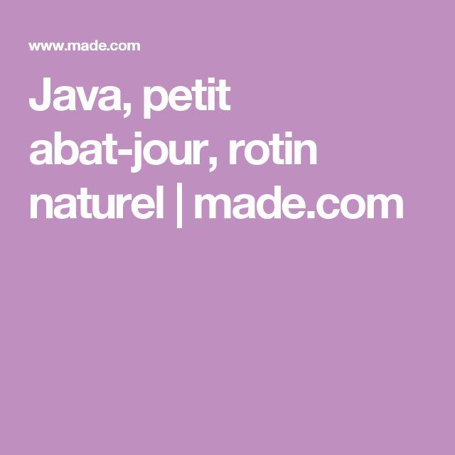 Java, petit abat-jour, rotin naturel | made.com