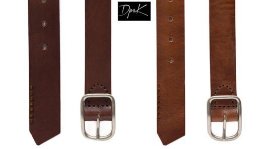 Dp&K _Desert Brown Men's Leather Belts_Handmade Leather Belts. Handcrafted elements