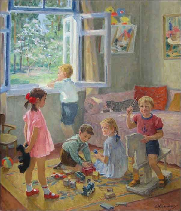 Костенко Е. Дети играют 1992 г.