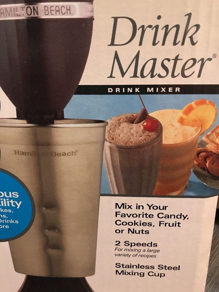 Hamilton Beach Milkshake Mixer Smoothie Vintage Frappe Coffee Drink Maker Black  | eBay