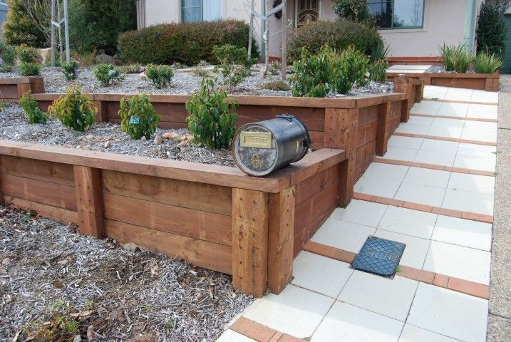 wood ideas for landscape walls retaining wall ideas retaining walls timber sleeper wall jerrabomberra for the home pinterest wall ideas - Timber Retaining Wall Designs