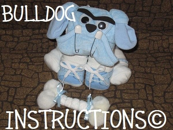 Instructions to make this adorable Diaper Dog centerpiece. GR8 for baby shower gift diaper cake topper keepsake. $8.99, via Etsy.... would love a tarheel mascot too