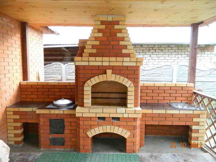Дизайн барбекю из кирпича фото