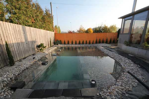 VorherNachher Gartengestaltung Diy schwimmbad