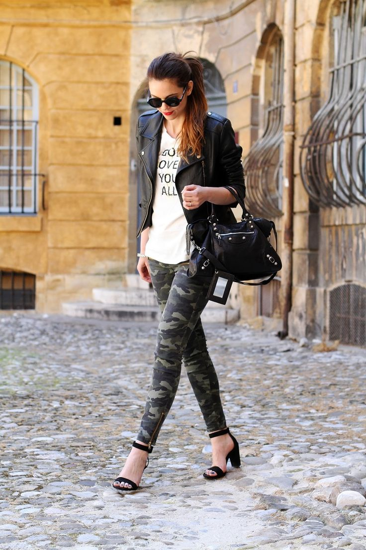 camo, leather, shades