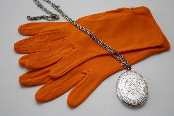 ORANGE Accessories Women's Orange Gloves UNUSED VINTAGE