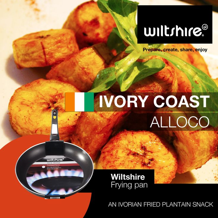 Alloco: A classic Ivorian snack made from deep fried plantains or green bananas that's also classically served as an accompaniment to grilled fish. Click here for more: www.facebook.com/wiltshiresa