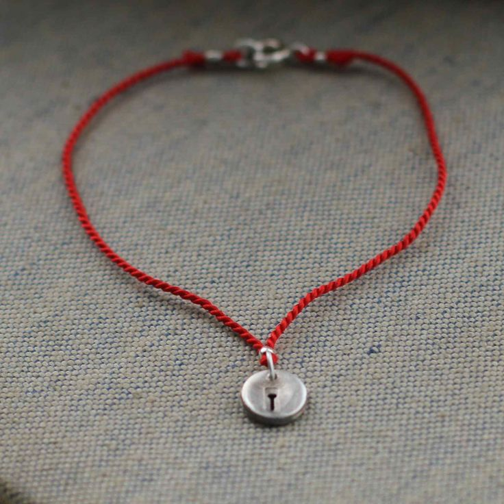 Silver and Silk Initial Charm Bracelet  This is a pretty and simple, personalised bracelet for a loved one or yourself.